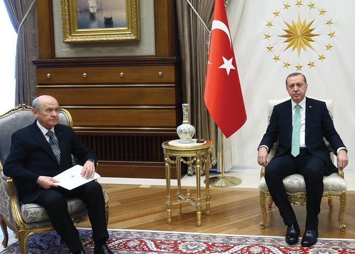 Cumhurbaşkanı Erdoğan ve MHP Genel Başkanı Bahçeli Görüşmesi