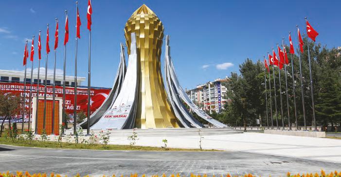 """Keçiören'de İstiklal ve İstikbal Mücadelesinin Simgesi """"15 TEMMUZ ŞEHİTLER ANITI"""""""